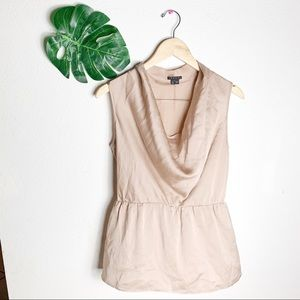 Theory Nude 100% Scoop Neck Top Size Small